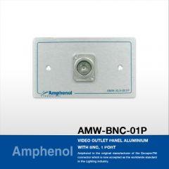Amphenol AMW-BNC-01P Video Outlet Panel Aluminium With BNC, 1 Port แผ่นเพลท BNC,  1 Port