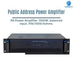 CMX CMX PA-1000P เครื่องขยายเสียง 1 ch 1000 วัตต์ 70V/100V/4ohms.