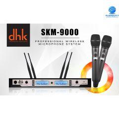 DHK SKM9000 ไมโครโฟนไร้สายแบบไมค์คู่ คลื่นความถี่  UHF 803-806 MHz !คลื่นรุ่นใหม่ 2564
