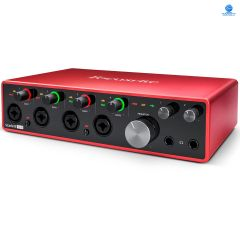 Focusrite Scarlett 18i8 (3rd Gen) Audio Interface, 18-in/8-out USB 2.0, 24-bit/192kHz, with 4 Mic and 2 Instrument Inputs