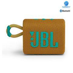 JBL Go 3 ลำโพงพกพาไร้สาย ลำโพงจิ๋ว กันน้ำ กันฝุ่น เชื่อมต่อการทำงานด้วยระบบบลูทูธ ใช้งานได้ 5 ชม.(สีเหลือง)