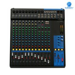 YAMAHA MG16 16-Channel Mixing Console: Max. 10 Mic / 16 Line Inputs (8 mono + 4 stereo) / 4 GROUP Buses + 1 Stereo Bus / 4 AUX (incl. FX)