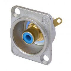 Neutrik NF2D-6 RCA Female D Shell Receptacle, Blue Color ตัวเมียสีนํ้าเงิน