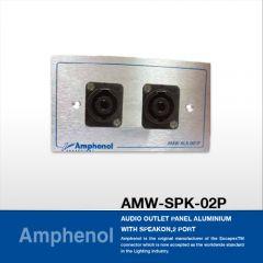 Amphenol AMW-SPK-02P Audio Outlet Panel With Speakon, 2 Port แผ่นเพลท Speakon, 2 Port