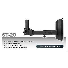 NTS ST-20 ขาแขวนตู้ลำโพงโลหะติดผนังแบบกระบอก รับนำ้หนัก สูงสุด 25 KG.
