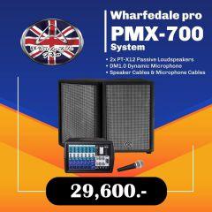 Wharfedale pro PMX 700 System  ชุดเครื่องเสียงเคลื่อนที่ ลำโพง 12 นิ้ว พร้อม ไมค์สาย 1 ตัว