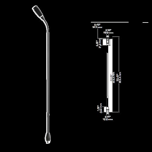 Audio-technica ATUC-M58H ก้านไมโครโฟนชุดประชุม ยาว 58 เซนติเมตร